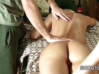 German Stepsister Get First Assfuck After Massage By Stepbro