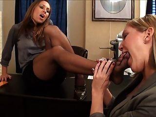 Nikki And Taylor Raz Pantyhose Foot Worship