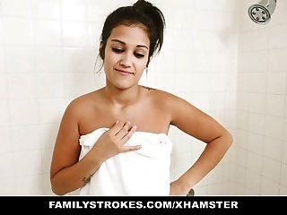 Famstrokes - Horny Brother Blackmails Stepsister