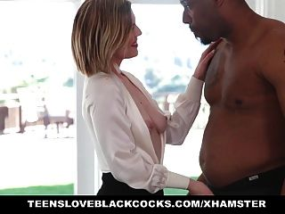 Teens Love Black Cocks-blonde Takes Black Cock
