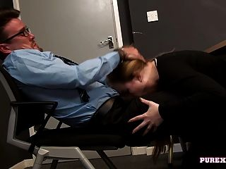 Pure Xxx Films Boss Fucking The New Girl At Work