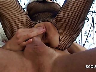 Sister In Fishnet Get Hard Anal Fucked By Her Step-brother