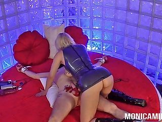 Monicamilf In Her Version Of 50 Shades Of Pegging And Sm