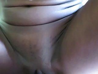 Skinny Ebony Babe Pussy & Anal Fucking