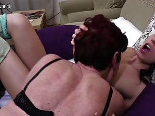 Three Old And Young Lesbians Fuck Each Other