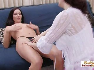 Lesbian Cougar Seduces Her New Personal Chef Too Easy