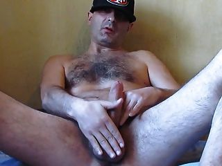 Str8 Hairy Daddy Stroke His Meat