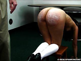 Fully Nude Bare Bottom Paddling