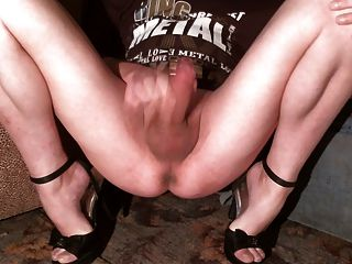 Pussy, Hard Clit And Legs Of Evelina: Favorite View