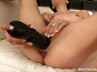 Big Dildo Pussy And Anal Play