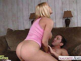 Busty Blonde Athlete Babe Krissy Lynn Fucking