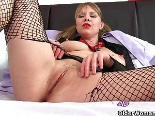 British Milf Abi Fucks Herself With A Dildo