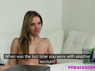 Femaleagent Beautiful Bisexual Blonde Seduces Horny Agent