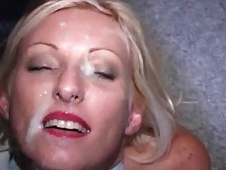 Blonde Milf Gets A Bukkake