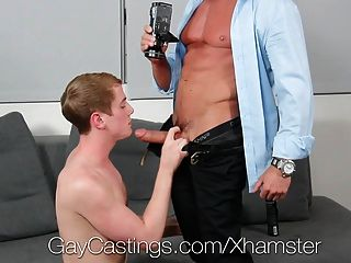 Gaycastings - Blonde College Guy Fucked By Casting Guy