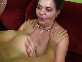 Horny Granny Fucks Teen Girl
