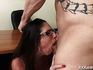 Slutty Secretary Fucks Her Boss To Keep Her Job!