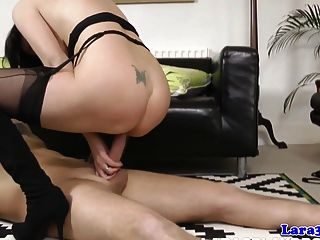Mature British Cougar Gets A Mouthful Of Cum
