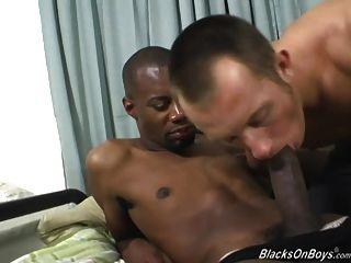 White Dude Deepthroating A Massive Black Cock