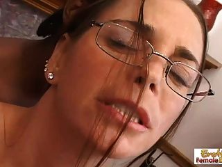 Sexy Milf In Glasses Deepthroats An Enormous Black Cock