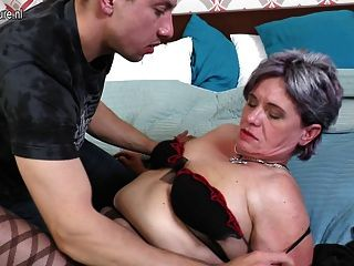 Lucky Son Fucks Mature Not His Mom