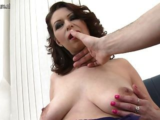Horny Mother With Saggy Tits Fucking In Pov Style