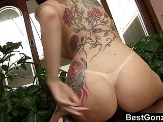 Busty Babe Gets All Her Holes Fucked