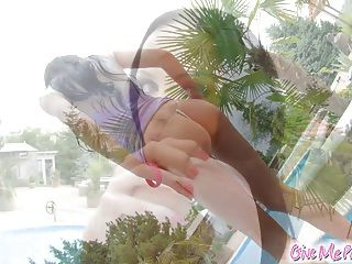 Give Me Pink Outdoor Squirting With Magic Wand