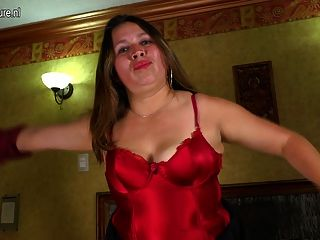 Horny Latin Mature Lady Playing With Herself