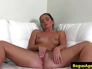 Euro Casting With Amateur Riding Cock