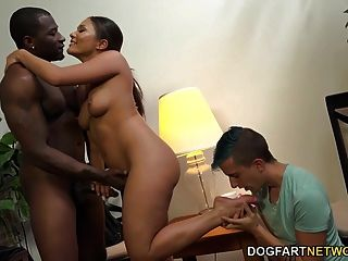 Mena Mason Takes A Black Cock To Get A Loan
