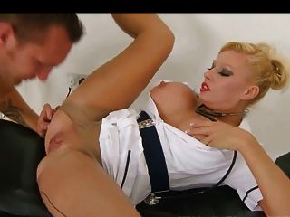 Nurse Fucked In Seamed Tights