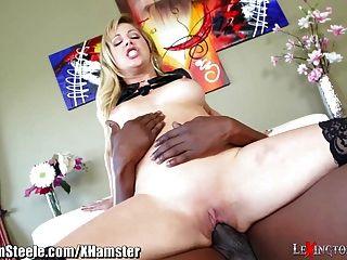Milf Cherie Deville Rides 1ft Black Cock