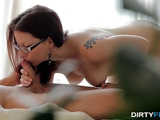 Dirty Flix - Tattooed Nerdy Chick Fucked Good
