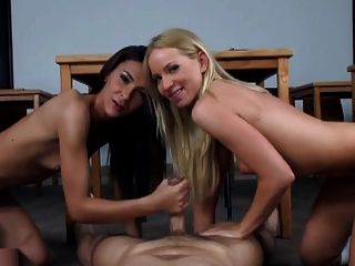 Two Stunning Girls Know How To Please.