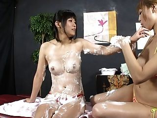 Lesbian Beauty Salon Soapy Body Wash 2 (censored Jav)