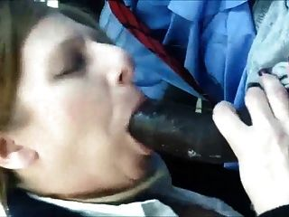 Horny Cougar Sucking On A Big Black Dick