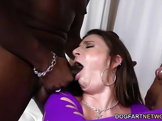 Sara Jay Gets Ganbanged By Black Guys In Front Of Not Son