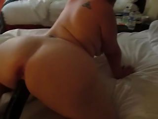 Super massive pawg bends over shopping