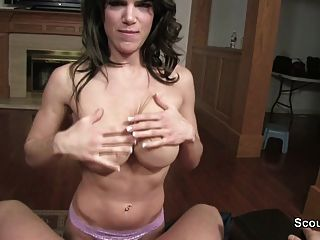 Mother Helps Not Step-son To Cum