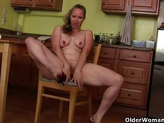 Mom Turns Household Chores Into A Masturbation Adventure