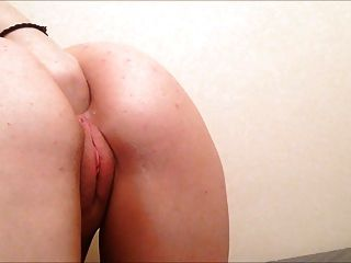 Anal Slut Fists Herself And Sits On A Bedpost