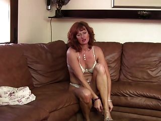Sexy Mom Next Door Feeding Her Pussy