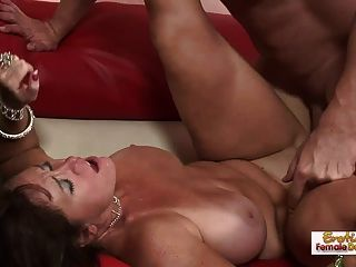 Busty And Slutty Mature Blowjob, Titfuck, And Facial