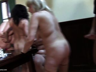 Hungry Busty Grannies And Moms Suck And Fuck A Single Guy
