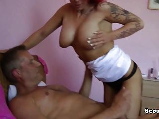 German Amateur Redhead Teen On Real Hardcore With Old Men