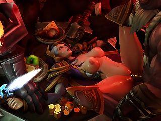 Jaina Proudmoore Gangbanged (world Of Warcraft)