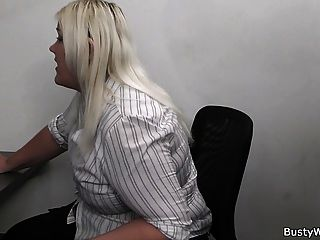 Blonde Secretary Suck And Fuck At Work
