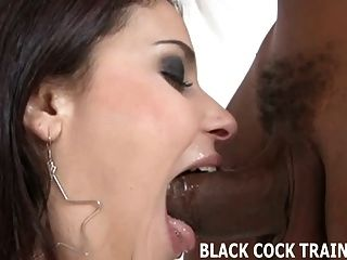Watch Your Wife Monica Gagging On Big Black Cock