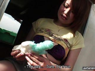 Asian Lass Is Playing With Her Toy And Her Cunt
